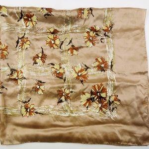 Vintage Silk Scarf {Hand rolled}